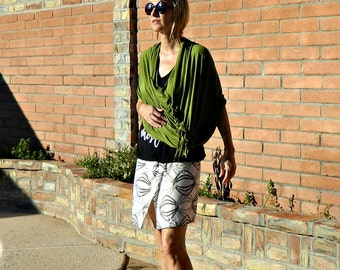 Womens Scarves-Scarf-Blanket Scarf-Unique Handmade Scarves-Avocado Green-Stretchy-Clingy-Poncho Style-Mommy LaDy Club Mama Scarves Wraps