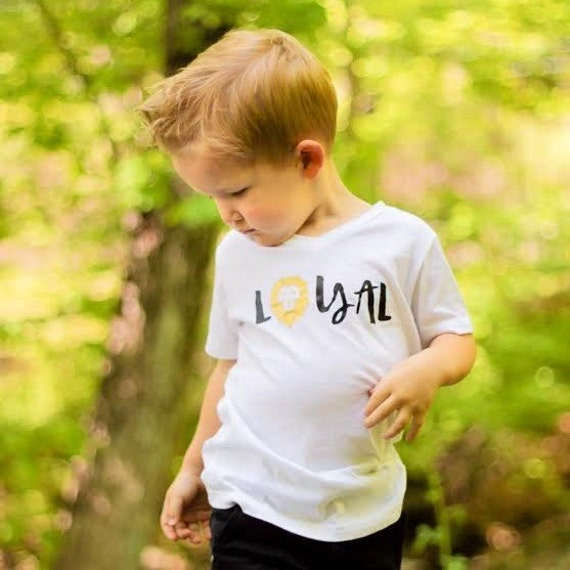 eca3448e Boys Shirts-Tee Shirts in Handmade-Boys Tee Shirt-T Shirt-Graphic  Tshirt-Loyal Lion Graphic in the Mommy LaDy Club Kid's Soul Collection