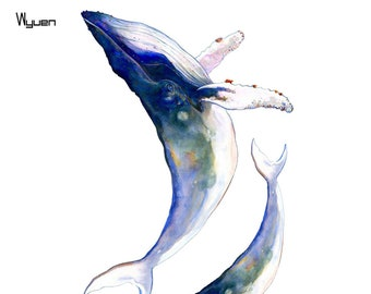 Whale Temporary Tattoos T104