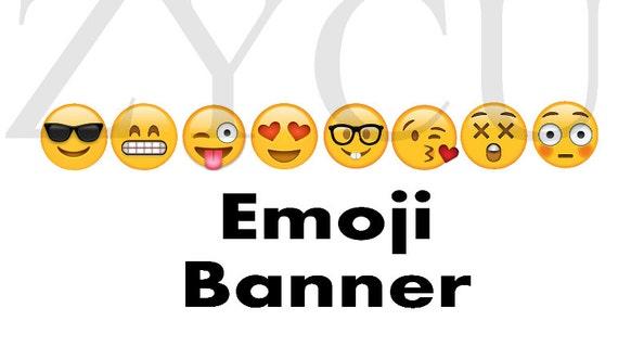 Emoji Banner Printable Face Instant Download