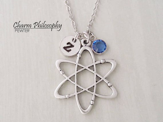 Atomic Whirl Necklace Big Bang Theory Symbol Atom Jewelry