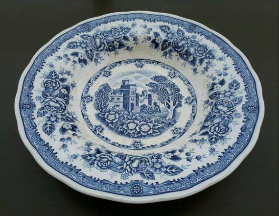 Blue And White Plate Double Phoenix Nikko Ironstone Japan Etsy