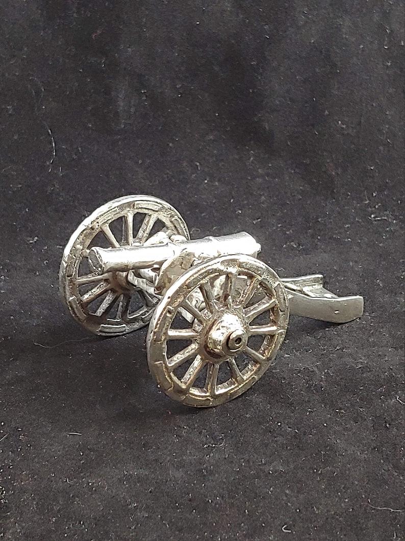 Cannon Silver civil war cannon revolutionary weapon artillery ordinance  handmade pure replica veteran us army soldier miniature functional