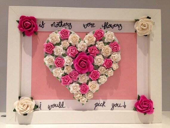 Coeur Floral Personnalise Cadre Cadeau D Anniversaire Personnalise