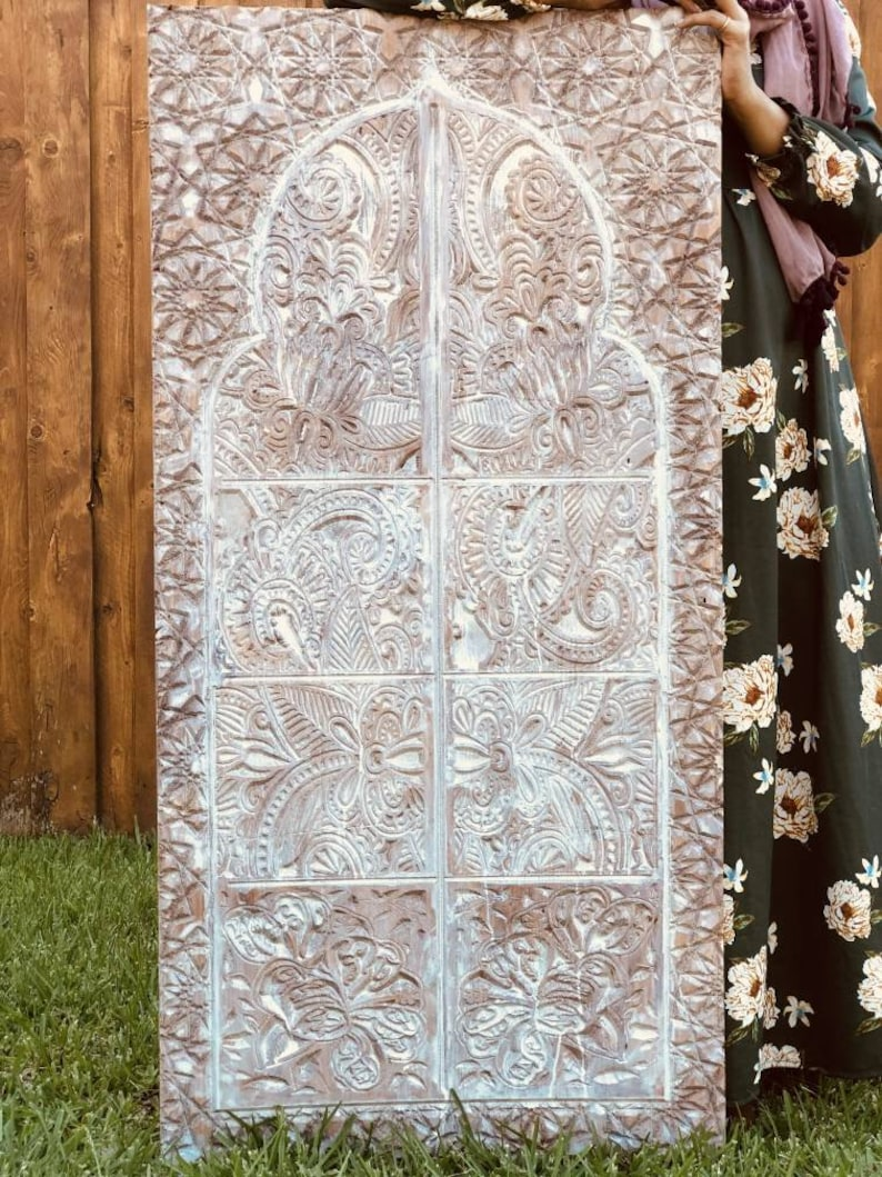 Large Carved Wooden Wall Art Indian Morrocan Thai