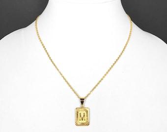 f00c0ec874ea0 Gold initial pendant   Etsy