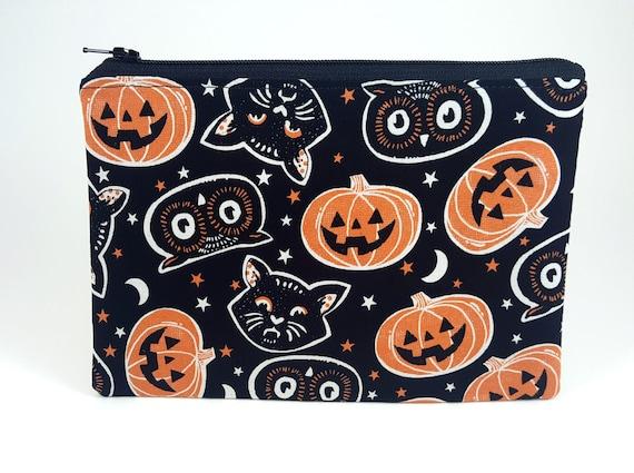 Pumpkin Lantern Printing Small Wallet Coin Purse Card Zipper Bag Handbags For Women