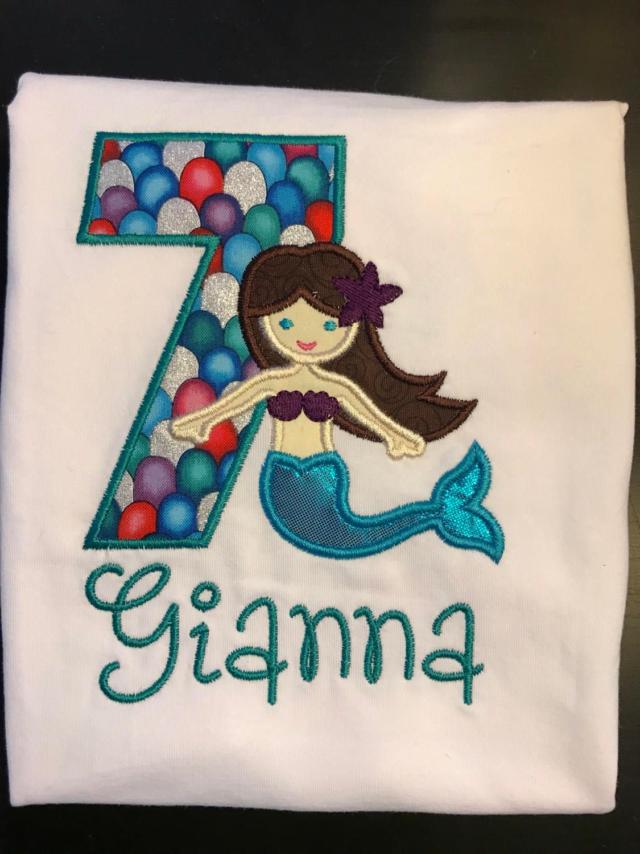 Mermaid Birthday Shirt Sparkle