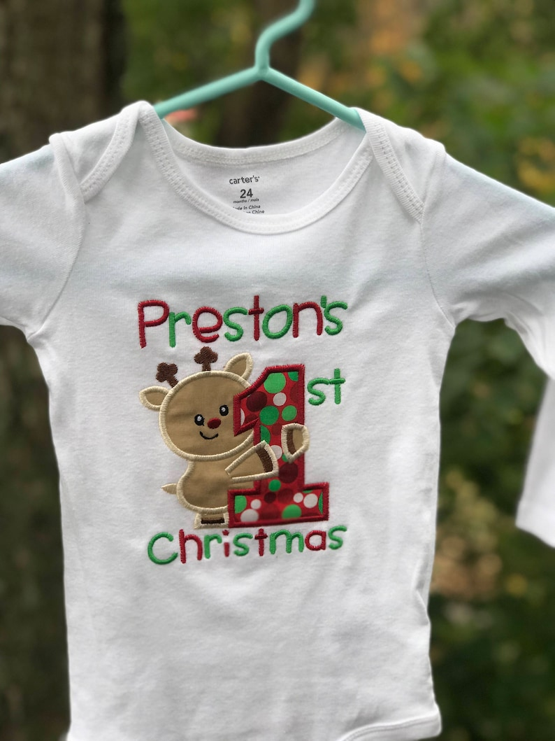 04e841c73 First Christmas onesie/reindeer shirt/boys first christmas | Etsy