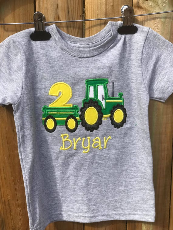 Tractor Trailer Birthday Shirt Embroidered 2nd