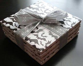 Handmade Halloween Bats ceramic tile coasters