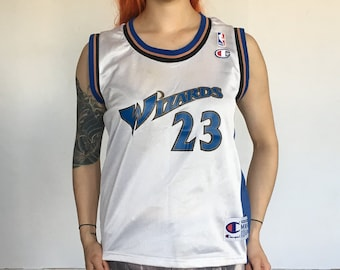 cecfb952a04 Vintage Michael Jordan Washington Wizards Champion Jersey #23 Youth Size  10-12 Vintage Basketball Jersey Rare Champ NBA Jersey Vintage #23
