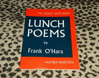 Lunch Poems by Frank O'Hara Vintage Paperback Book Poetry Book Pocket Sized Book Vintage Classic American Poetry Avant-Garde Poetry Books