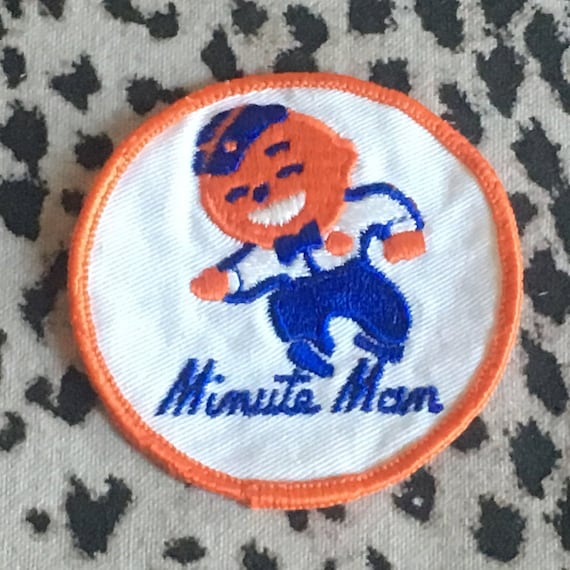 Vintage Minute Man Embroidered Patch Vintage Cool
