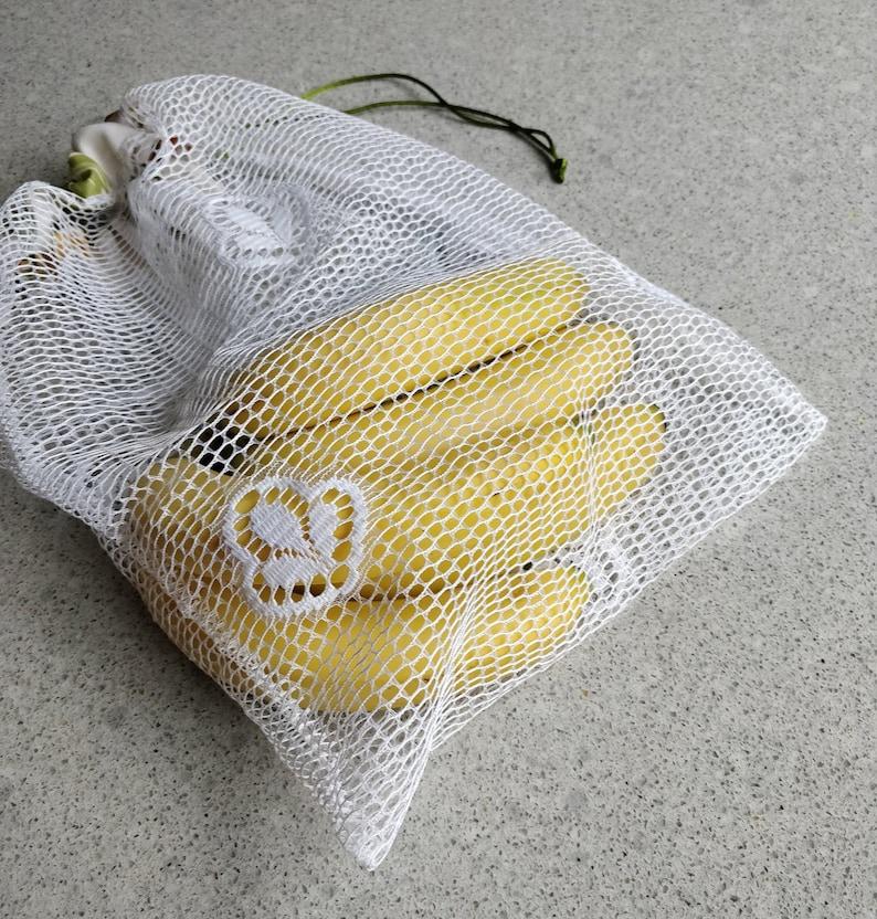 Reusable Produces Bags Polyester Mesh Produces Bags Reusable Zero Waste Fruit /& Vegetable Mesh Shopping Bag