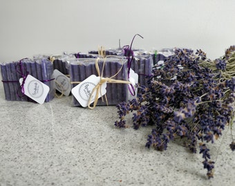 Vegan Lavender Natural Bridesmaid Favor Soaps/Lavender Natural Bar Soaps/Savons naturels à la lavande