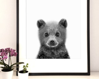 Woodlands Nursery, Animal print, Nursery print, Baby Bear print, Nursery wall art, Digital Download, Nursery Decor, Babies Room Decor