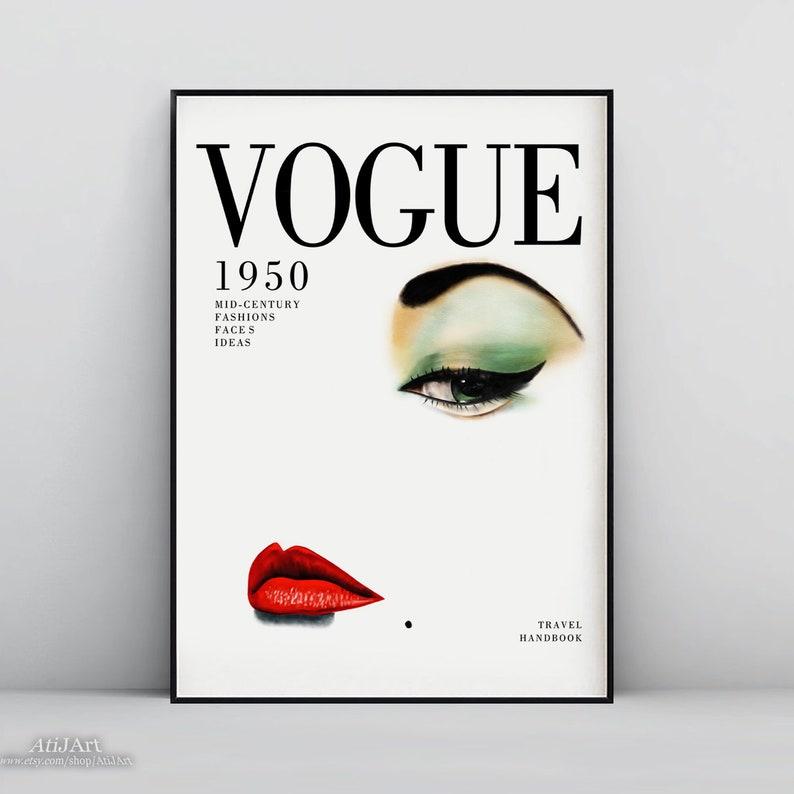 hot sale online 0dcaf 91dc3 Vogue print, Vogue poster, vogue print vintage, Fashion Print, Fashion  Illustration, fashion wall art,Vogue Cover Print 1950,Vogue Cover