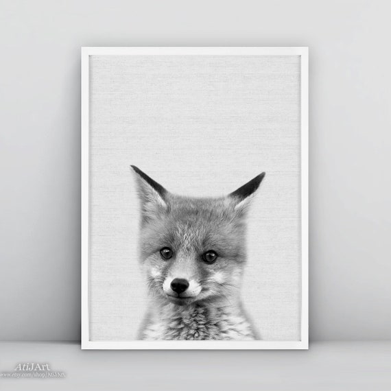 FOX Cub Woodland Nursery Ltd Edit art drawing print 2 sizes A4//A3 Note Card