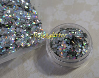 Silver Holographic fish scales nail art glitter