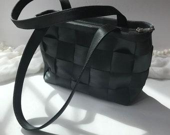 252f8298e9f2 Woven Black Seatbelt Handbag   Shoulder Bag   Tote by HARVEYS