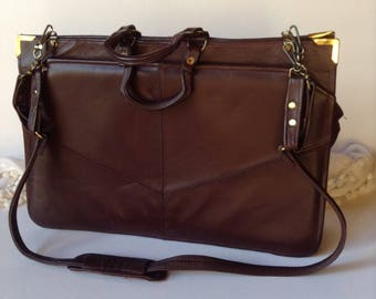 Vintage Genuine Leather Briefcase   Attaché   Bookbag   Perfect Gift 5e3ed071ecdc1