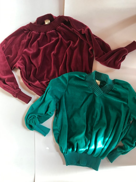 Vintage SEARS Christmas Sweaters / Red and Green V
