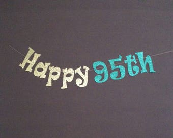 95th Birthday Party Decorations Banner Happy