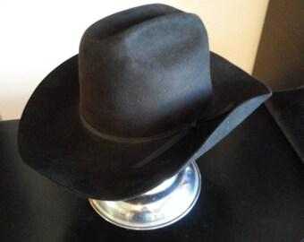 66b2e6c7d02ee Vintage Resistol black cowboy hat