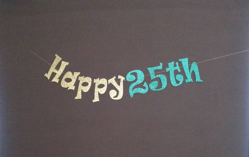 25th Birthday Party Decorations Banner Happy