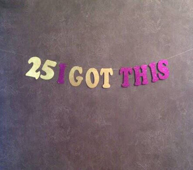 25th Birthday Decorations Party Banner