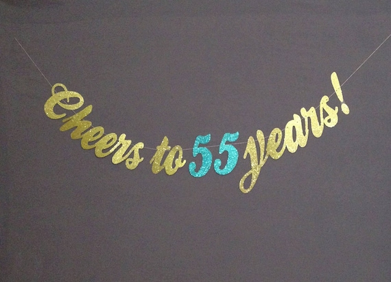 55th Birthday Party Decorations Cheers To 55 Years Happy