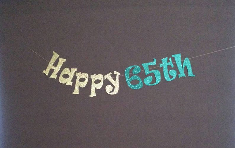 65th Birthday Party Decorations Happy Banner
