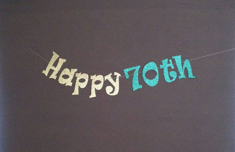 70th Birthday Party Decorations Banner Happy