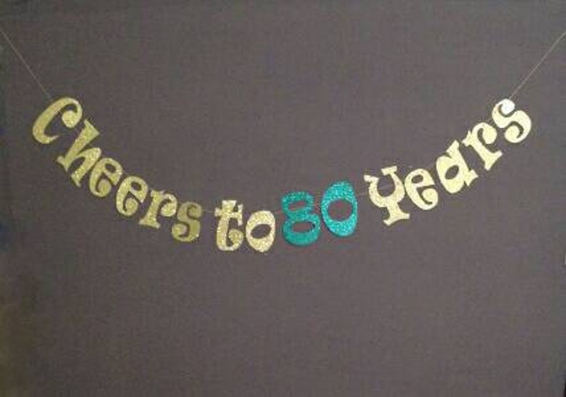 80th Birthday Decorations Cheers To 80 Years Happy