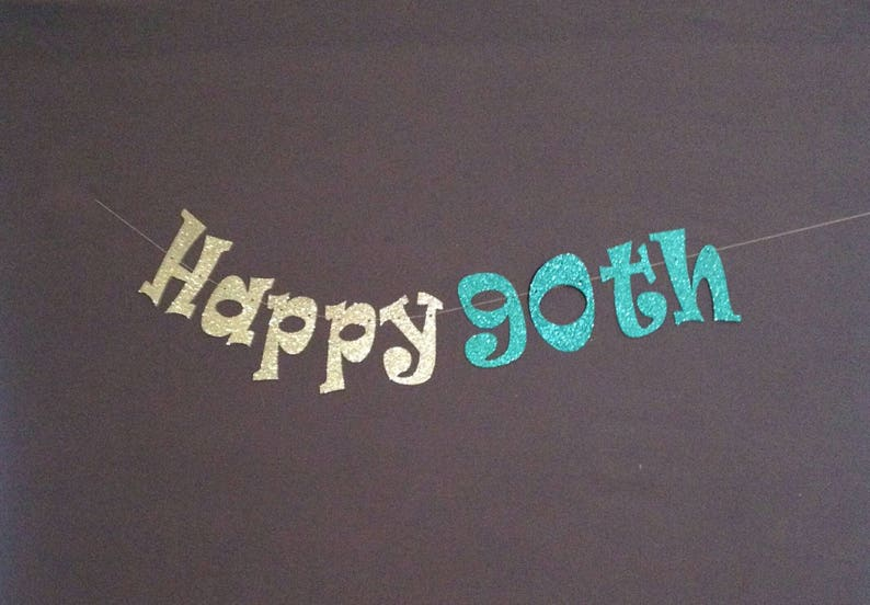 90th Birthday Party Decorations Banner Happy