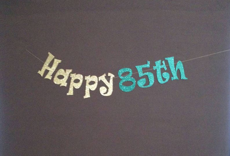 85th Birthday Party Decorations Banner Happy