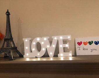 Love Marquee Sign Etsy