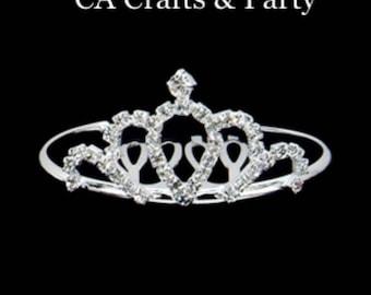 Mini Crystal Tiara- mini princess tiara- Doll Tiara- Mini Queen Tiara- Rhinestone princess small tiara crown- Mis 15 doll tiara #4687