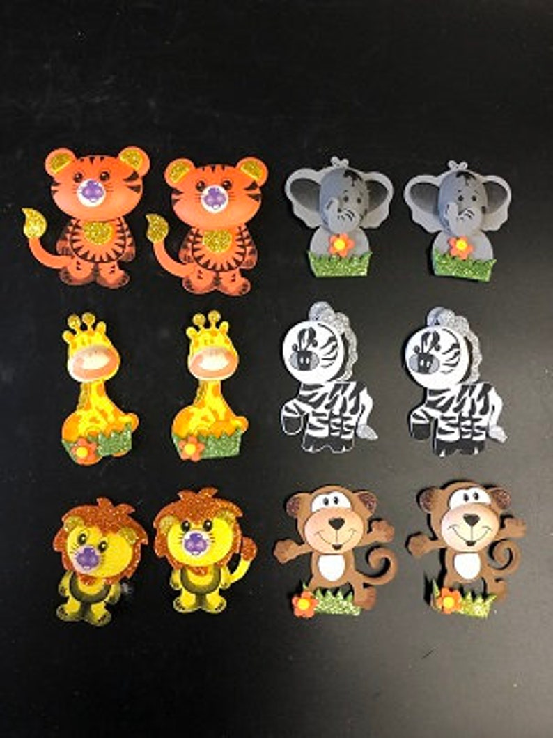 1.5inch Thank You Jungle Safari Baby Animals Sticker Stationery Stickers