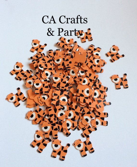 Tiger Wooden Animals Tiger Wooden Baby Shower Favors Safari Etsy