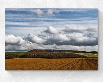 England Landscape The Ridgeway Fields