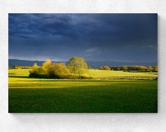 England Landscape Little Coxwell Storm