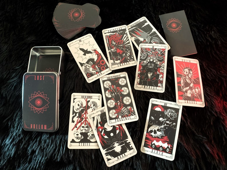 Lost Hollow Tarot Deck  1st Edition with Labelled Tin and image 0