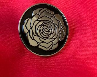 Wayward Dark - White Rose Soft Enamel Pin