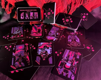 Neon Moon Tarot Deck - Fourth Edition with Labelled Tin and Guide Booklet