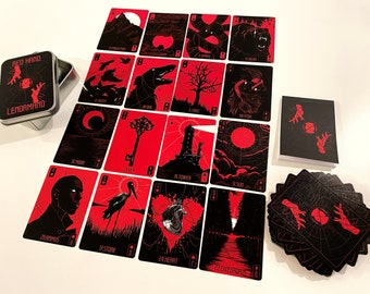 Red Hand Lenormand with Labelled Tin Box and Booklet - 1st Edition