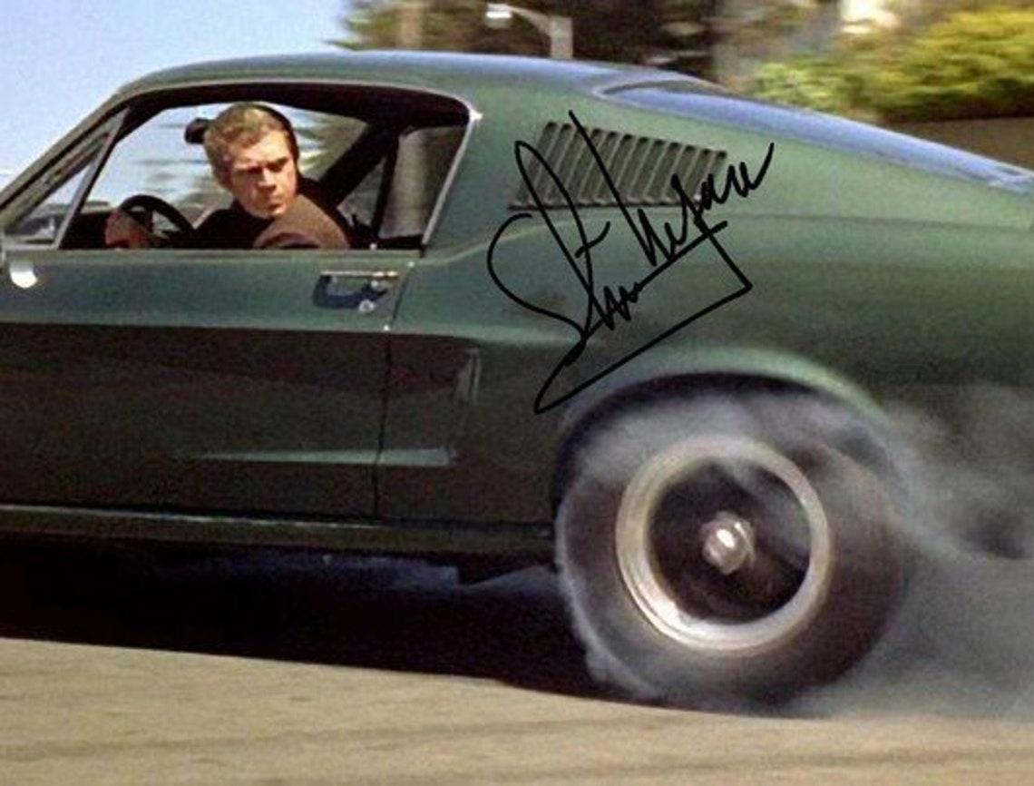 Steve Mcqueen Signed Photo 8x10 rp Autographed  Bullitt image 0