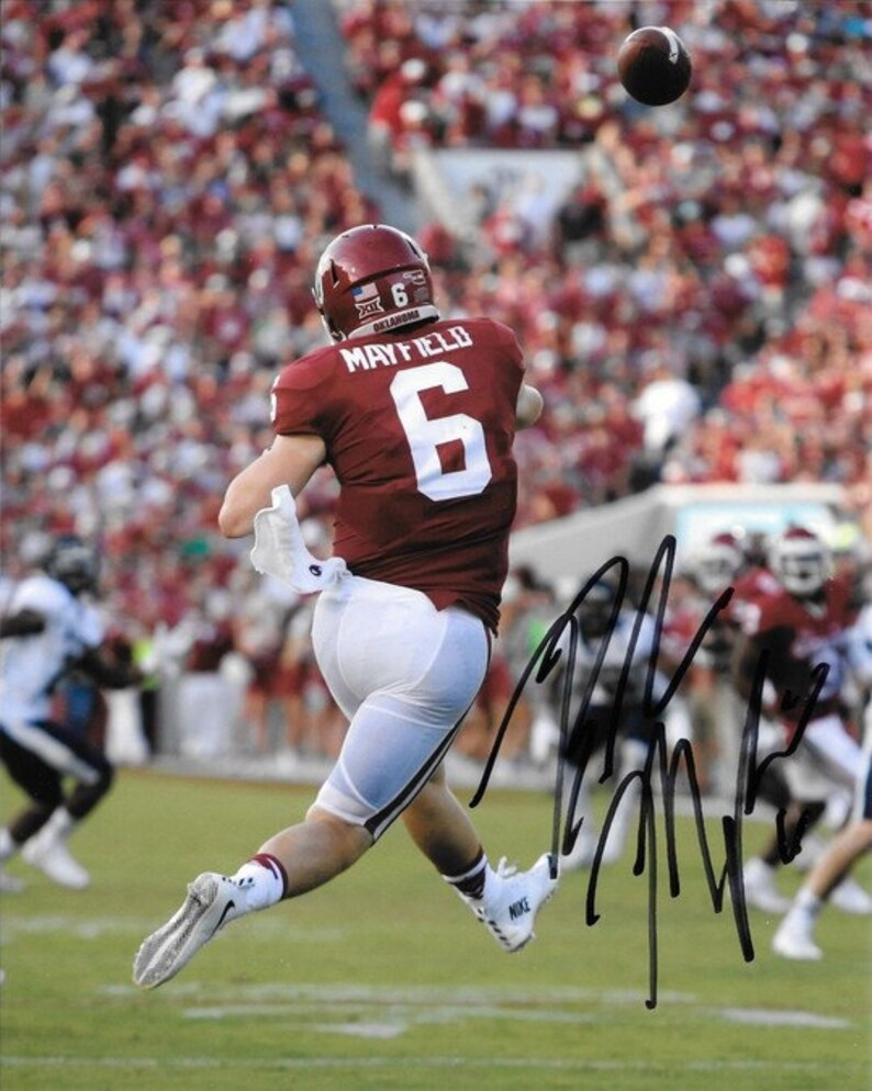 Baker Mayfield Signed Photo 8x10 rp Autographed Oklahoma  05cc6bfeb