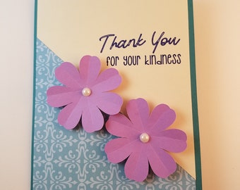 Thank You Card - Appreciation Card - Kindness Card - Friend Card - Handmade Greeting Card - Thank You Note - Thank You For Your Kindness